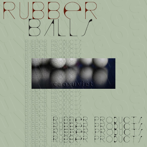 Rubber balls for vibrating machine